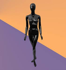 Манекен женский черный глянцевый