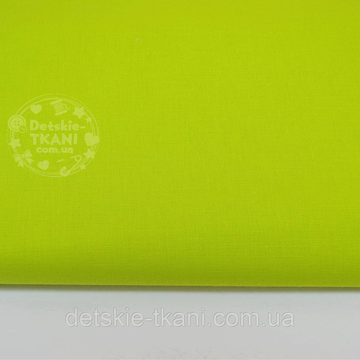 Однотонная польская бязь светло-зеленая (№ 808а).