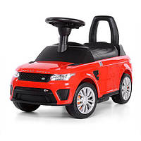 Детская машина 2 в 1, толокар - электромобиль красный Range Rover (Z 642-3)