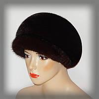 Женская норковая,объёмная кепка
