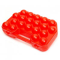 Контейнер для перевозки и хранения яиц, 20 ячеек.