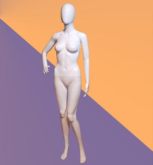 Манекен женский белый глянцевый