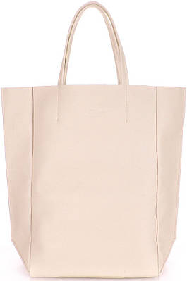 Женская кожаная сумка POOLPARTY SOHO poolparty-bigsoho-beige