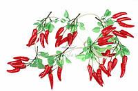 Перец декоративный Лето, пластик, овальная форма, цвет красный с зеленым хвостиком, украшение для открыток, Товары для HANDMADE