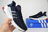 Мужские кроссовки Adidas Climacool синий с красным Топ Реплика Хорошего качества