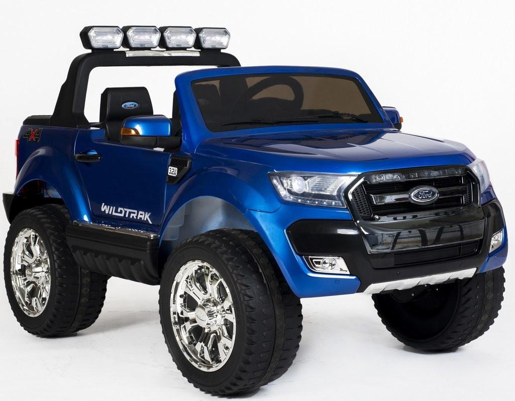 Детский электромобиль Ford Ranger M 3573 EBLRS-4: 180W, 12V 14А, EVA, 2.4G, кожа - СИНИЙ - купить оптом