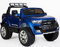 Детский электромобиль Ford Ranger M 3573 EBLRS-4: 180W, 12V 14А, EVA, 2.4G, кожа - СИНИЙ - купить оптом, фото 1