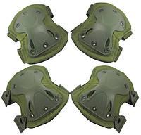 Наколенники налокотники штурмовые тактические набор Shell зеленый хаки
