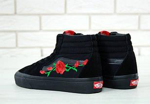 Кеды Vans Old Skool high CANVAS SK8-HI Roses, (унисекс), vans old school, ванс олд скул, фото 2