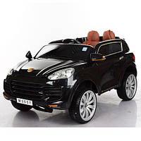 Детский электромобиль Porsche M 3557 EBLR-2: 7 км/ч, кожа, EVA, 2.4G - ЧЕРНЫЙ - купить оптом