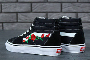 Женские кеды Vans Old Skool high CANVAS SK8-HI Roses, vans old school, ванс олд скул, фото 2