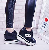 Кроссовки черные на платформе