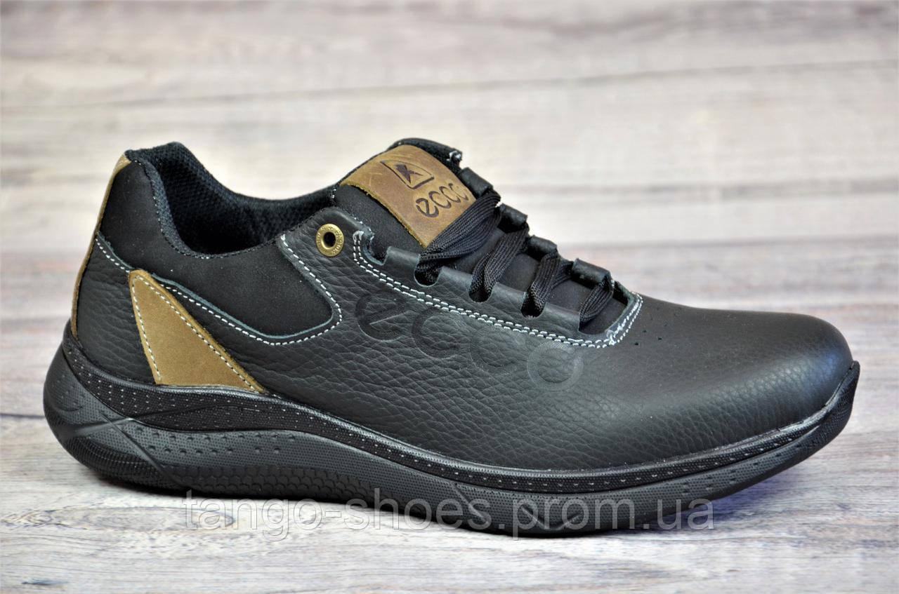 0ca75683fd71 Подростковые кроссовки черные Ecco реплика, натуральная кожа (Код  Т1082)