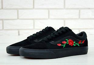 Кеды Vans Old Skool Roses, vans old school, ванс олд скул, фото 2