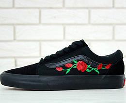Кеды Vans Old Skool Roses, vans old school, ванс олд скул, фото 3