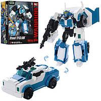 Трансформер J8018C трансформер Полиция, робот машинка, 18см, оружие