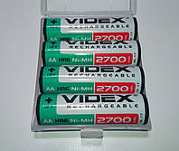 Комплект аккумуляторов (4 шт) Videx HR06/AA 1.2V 2700mAh NI-MH