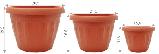 Цветочный горшок «Терра» настенный (Алеана) 22х16, фото 2