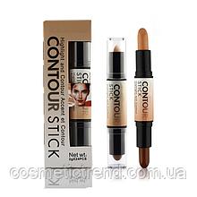 Коректор/консилер хайлайтер-бронзатор Creamy 2 in1 Contour Stick Highlighter Bronzer Concealer Ucanbe #C