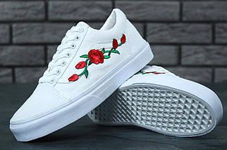 Кеды Vans Old Skool Roses, (унисекс), vans old school, ванс олд скул, фото 2