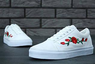 Кеды Vans Old Skool Roses, (унисекс), vans old school, ванс олд скул, фото 3