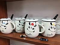 Кружка-чашка с крышкой Крейзи Панда (4 вида) 500 мл