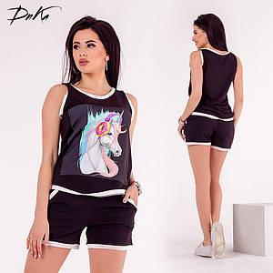 Костюм шорты+футболка в расцветках (DG-ат-01137.1)