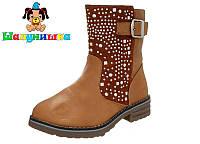 Демисезонные ботинки на девочку бренда Шалунишка Размеры 31 34 36