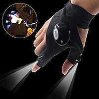 Универсальная перчатка с LED подсветкой на пальцах