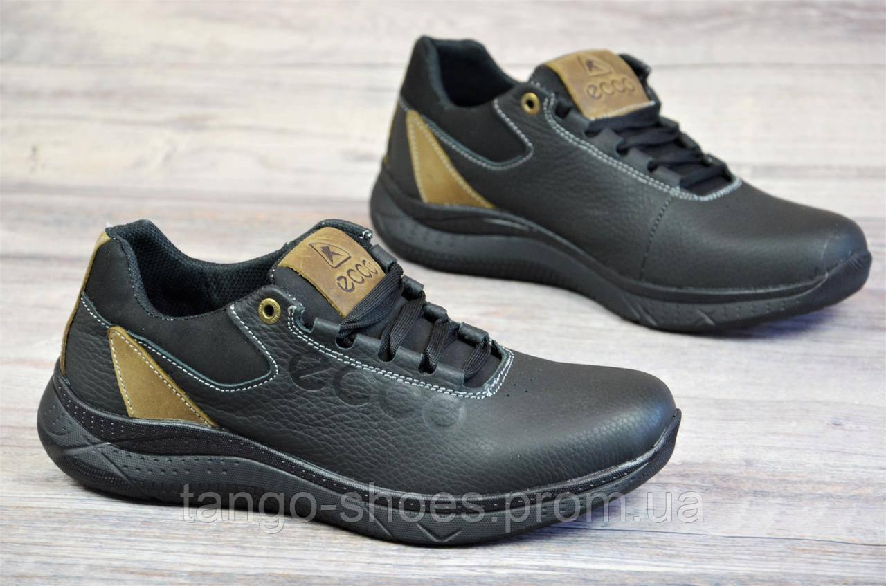 f9a0ff53d9ac Подростковые кроссовки черные Ecco реплика, натуральная кожа (Код  Т1082а)