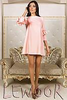 Нежное свободное платье с рукавом сборка