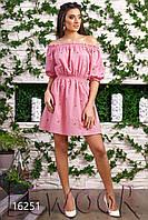 Нежное батистовое платье с вышивкой