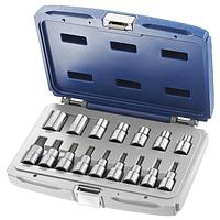 """Набор инструментов 1/2"""" 16 ед. TORX  (T20-T60, головки E10-E20, E24) (Артикул: E032907 )"""