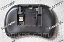 Беспроводная мини клавиатура USB с тачпадом и 3 цвета подсветки красная, синяя и зеленая, фото 2