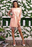 Нежное креповое платье с сеткой