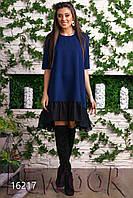 Модное платье разлетайка с оборкой из шифона