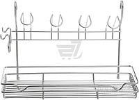 Полка на рейлинг Lemax KS-2055 для стаканов и чашек с крючками 390х173х265 хром