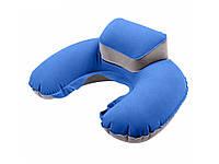 Компактная надувная дорожная подушка Faroot  Синий