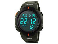 Спортивные часы Skmei 1068  Зеленый с оранжевым
