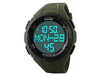Спортивные водонепроницаемые часы Skmei 1122 с LED подсветкой  Зеленый