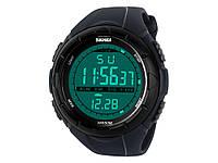Водонепроницаемые спортивные часы Skmei 1025 с LED подсветкой  Синий