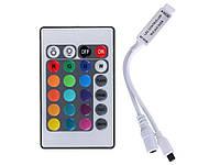 LED контроллер с инфракрасным пультом для светодиодной RGB ленты SMD3528/5050 12 В