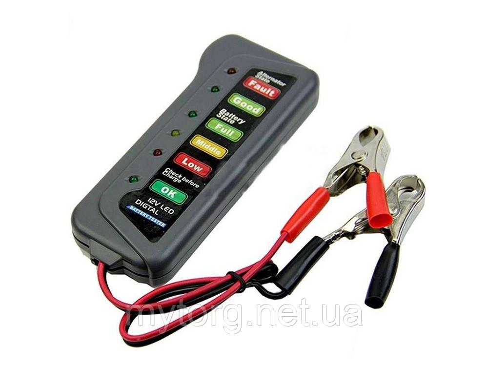 Цифровой автомобильный тестер для аккумулятора 12 В