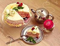 """Торт """" Наполеон """" с малиной"""