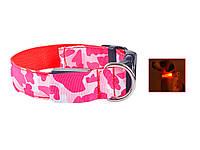 Светящийся светодиодный ошейник для собак TAILUP M Красный