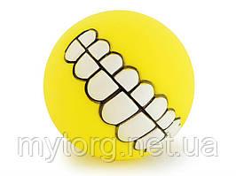 Мячик для собак Улыбка  Желтый
