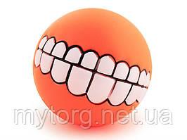 Мячик для собак Улыбка  Оранжевый