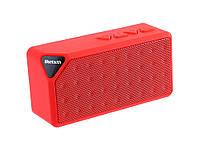 Колонка Bluetooth X3 FM-радио  Красный