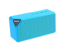 Колонка Bluetooth X3 FM-радио  Голубой