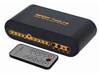 Цифровой оптический аудиокоммутатор SPDIF Switcher Splitter 4x2